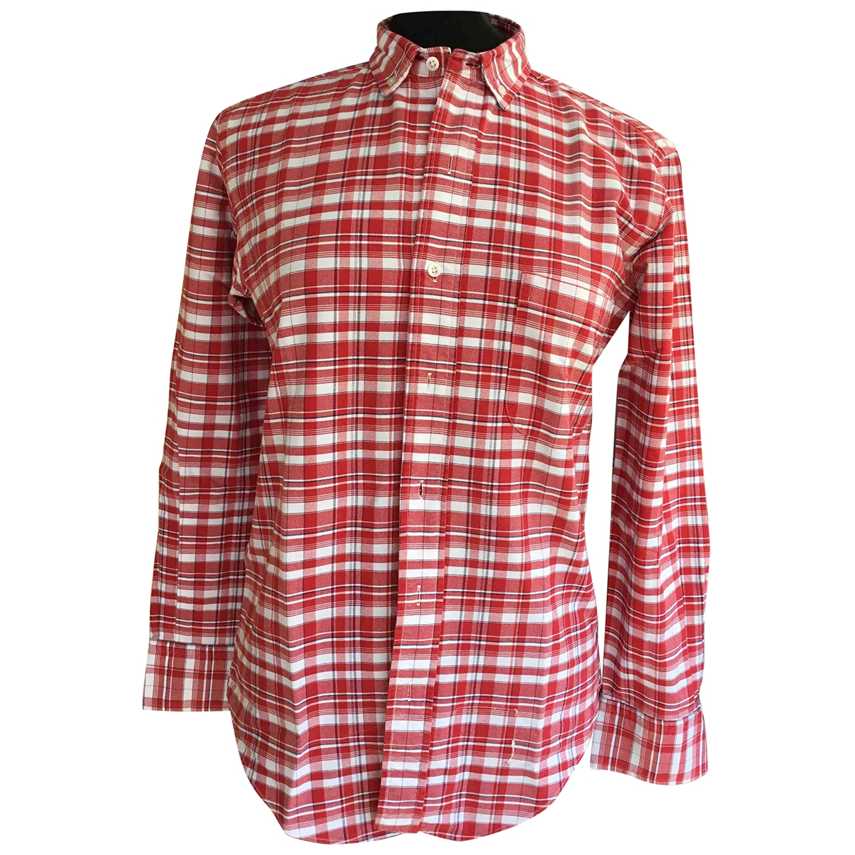 Thom Browne \N Red Cotton Shirts for Men S International