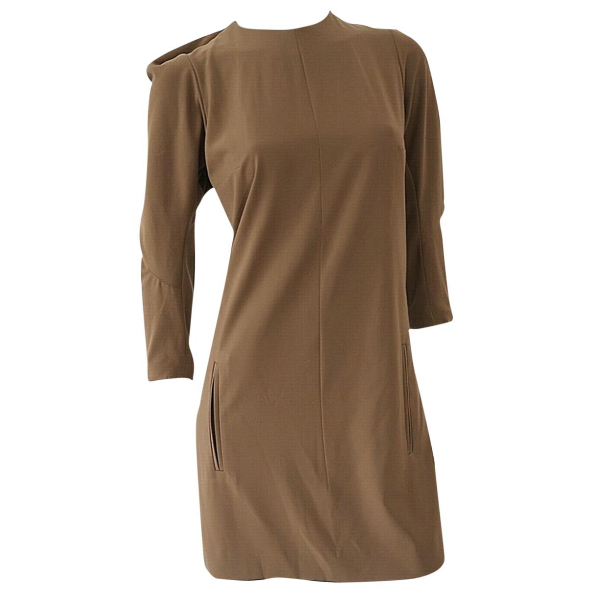 Carven \N Kleid in  Khaki Polyester