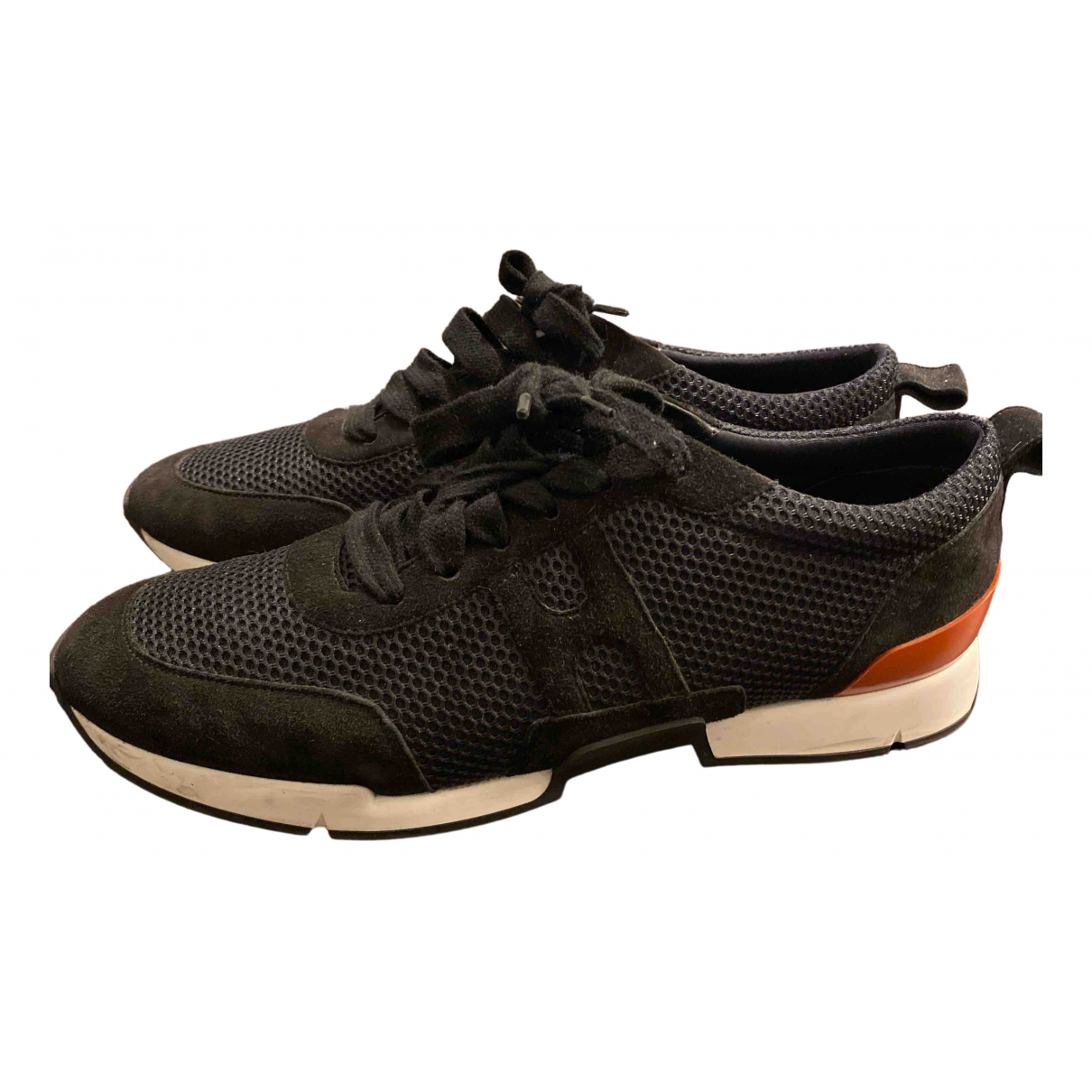 Hermes - Baskets   pour femme en toile - noir