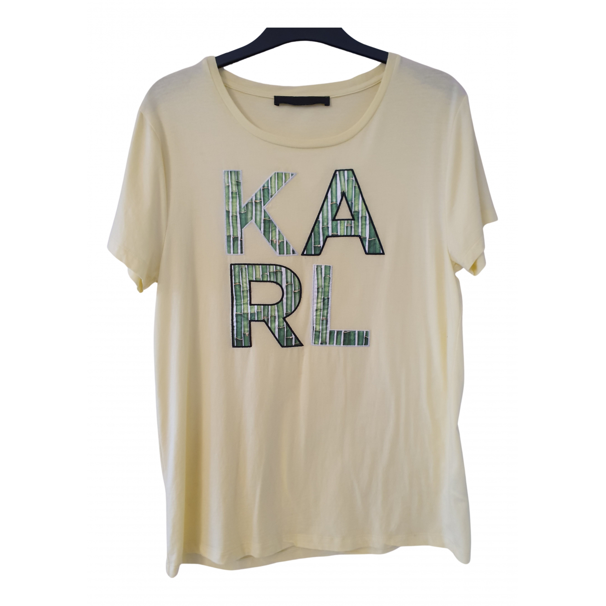 Karl Lagerfeld N Yellow Cotton  top for Women S International