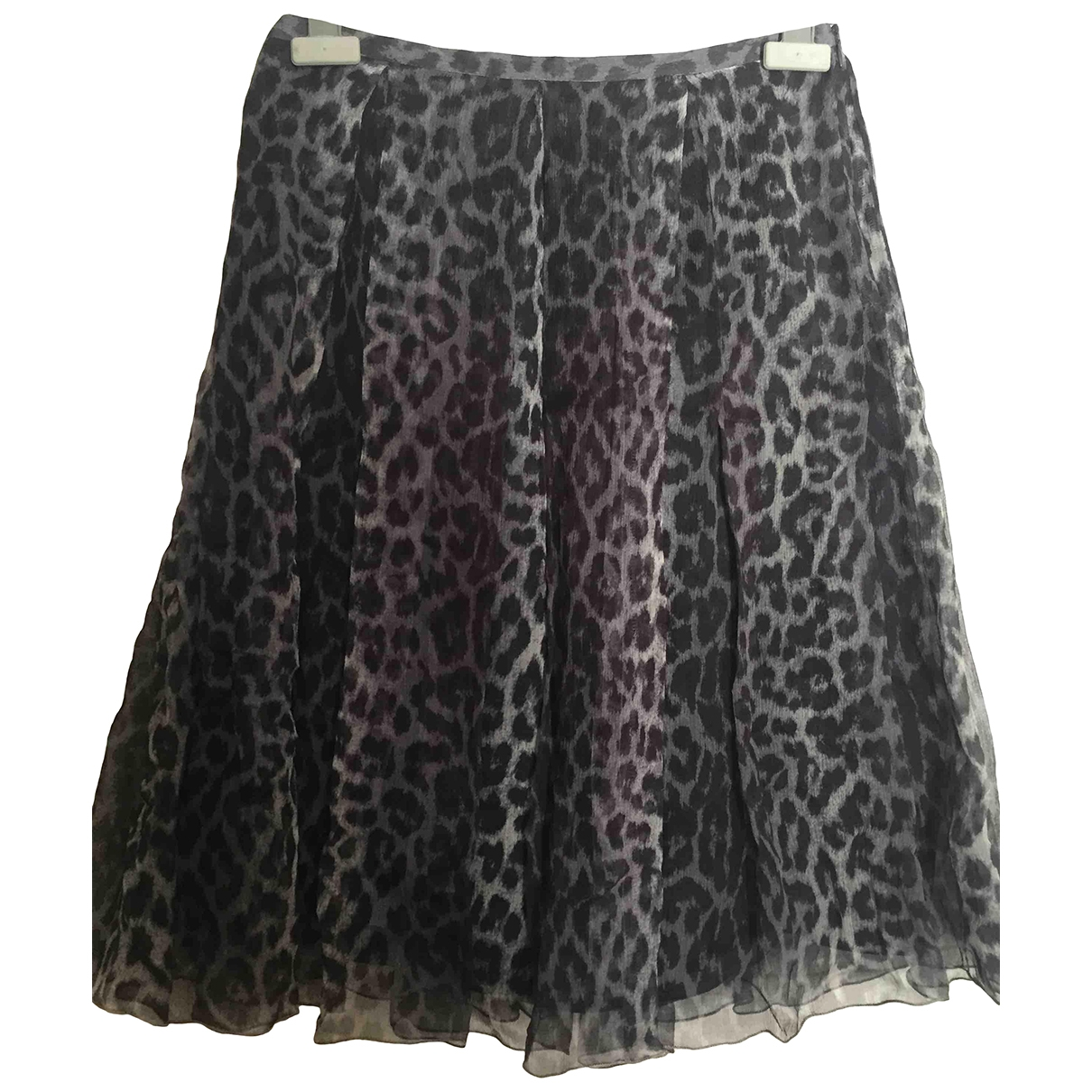 Non Signé / Unsigned \N Grey Silk skirt for Women 40 IT