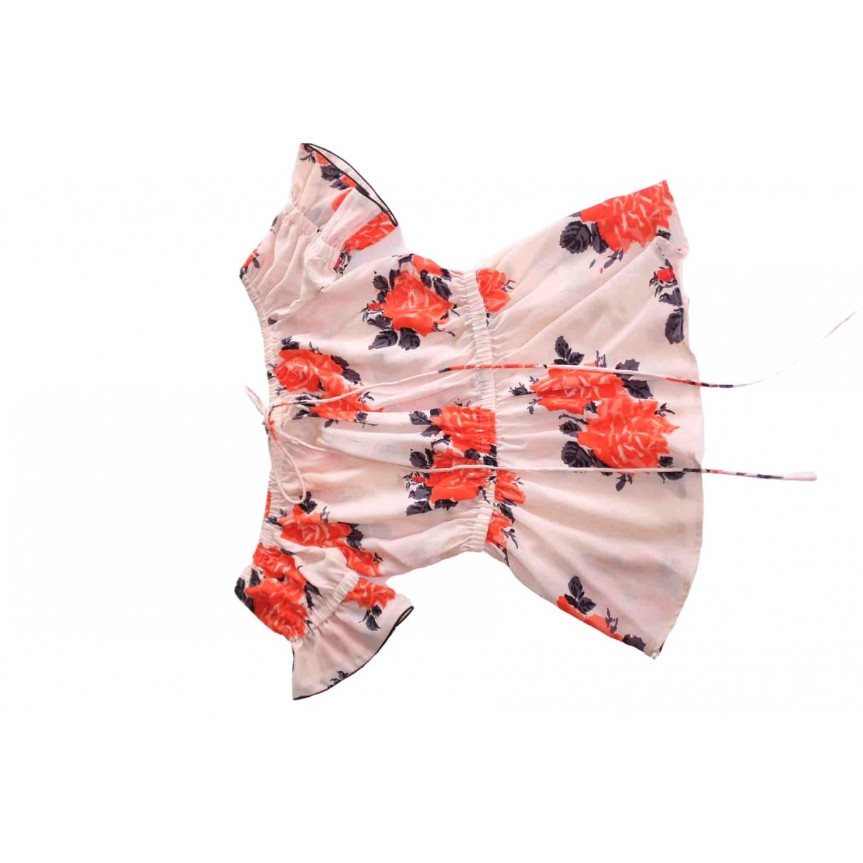 Ganni \N Orange Silk  top for Women 36 FR