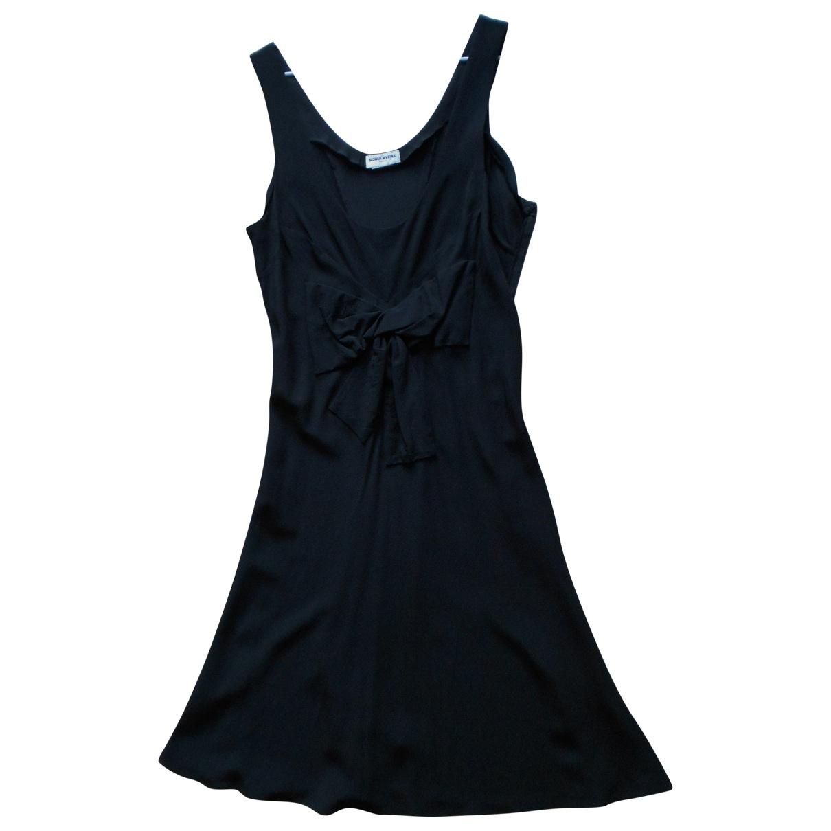 Sonia Rykiel \N Kleid in  Schwarz Seide