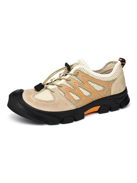 Milanoo Zapatillas de deporte para hombre Cosy Round Toe Tie Up Athletic Casual Mens Shoes