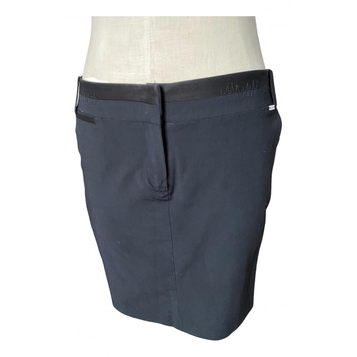 Liu.jo - Jupe   pour femme en coton - elasthane - noir
