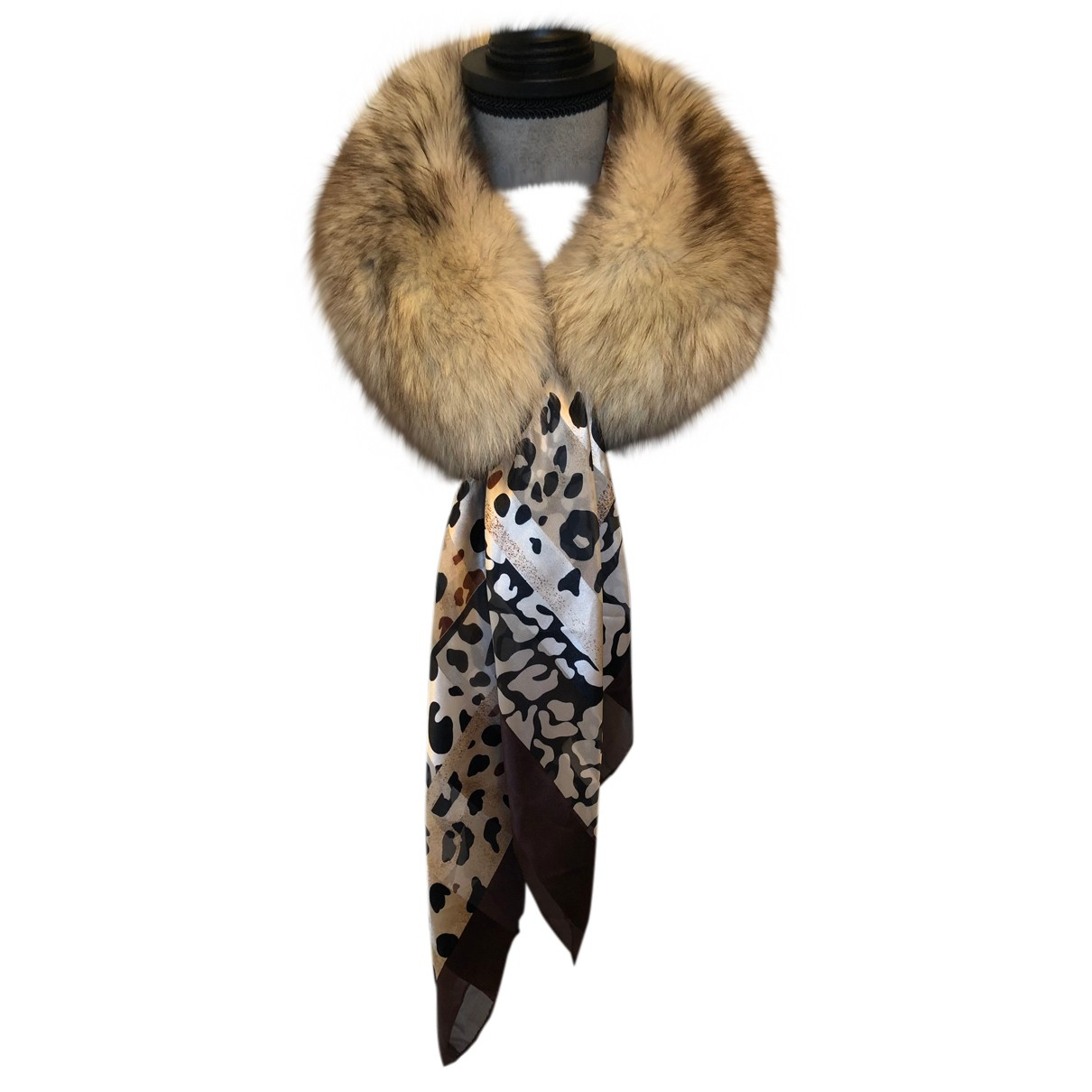 Non Signé / Unsigned N Multicolour Raccoon scarf for Women N
