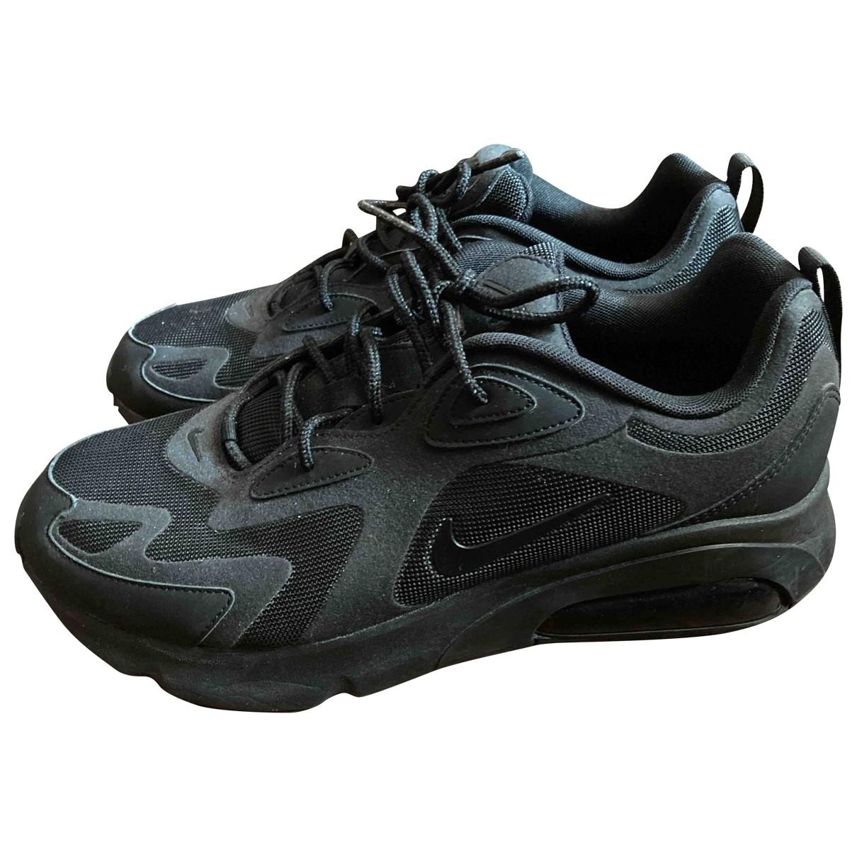 Nike Air Max  Sneakers in  Schwarz Leinen