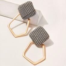 Open Geometric Woven Drop Earrings 1pair