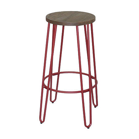 Quinn Barstool In Matte Black Finish, One Size , Black