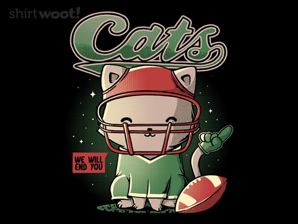 Cats Football T Shirt