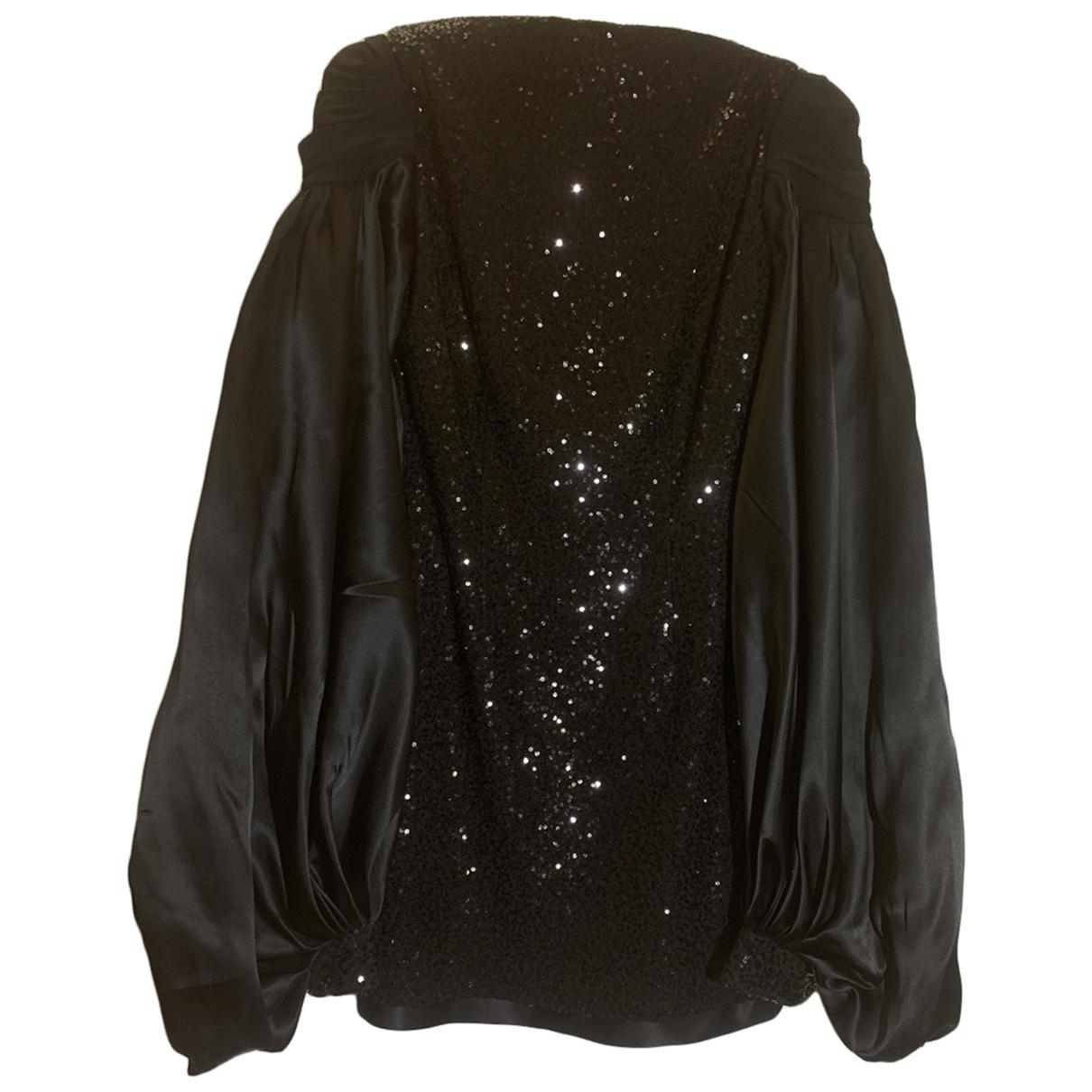 Balmain \N Kleid in  Schwarz Polyester