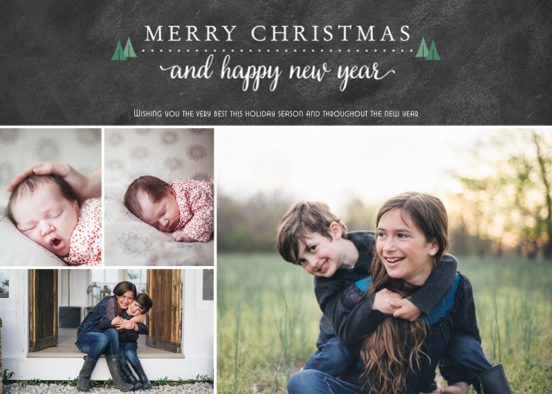 Christmas Photo Cards Flat Glossy Photo Paper Cards with Envelopes, 5x7, Card & Stationery -Teeny Trees