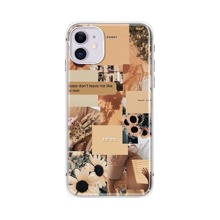 1pc Literary Pictorial Pattern iPhone Case