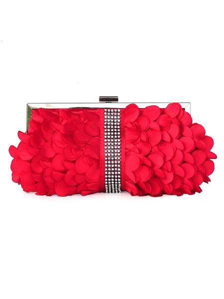 Milanoo Wedding Clutch Bags Rhinestone Beaded Evening Party Handbags