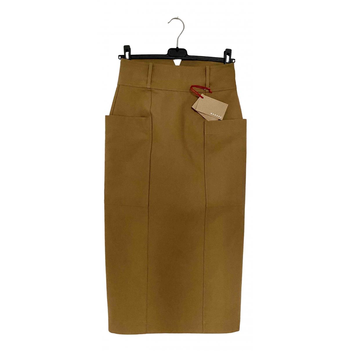 Nehera - Jupe   pour femme en coton - beige