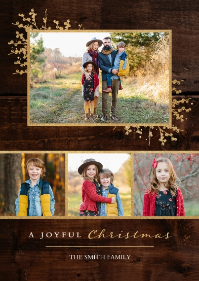 Christmas Photo Cards 5x7 Cards, Premium Cardstock 120lb with Rounded Corners, Card & Stationery -Into The Joy