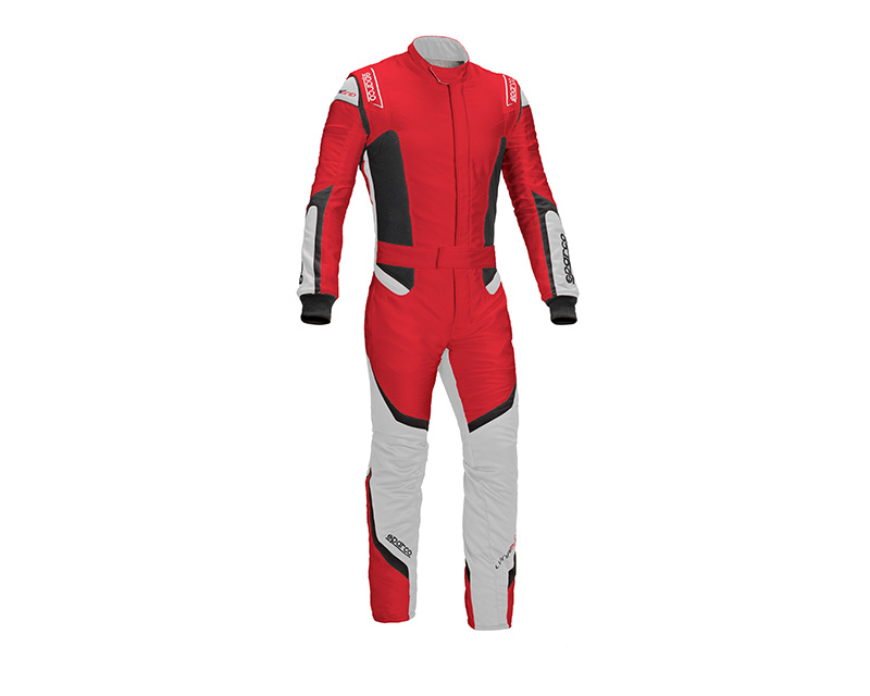 Sparco 001126856RSSI Lunargrid RS-6 Red and White Racing Suit 56 | L
