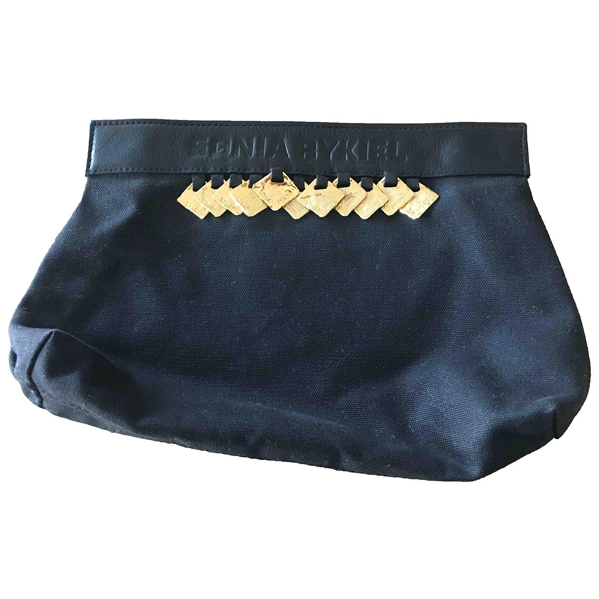 Sonia Rykiel - Pochette   pour femme en coton - noir