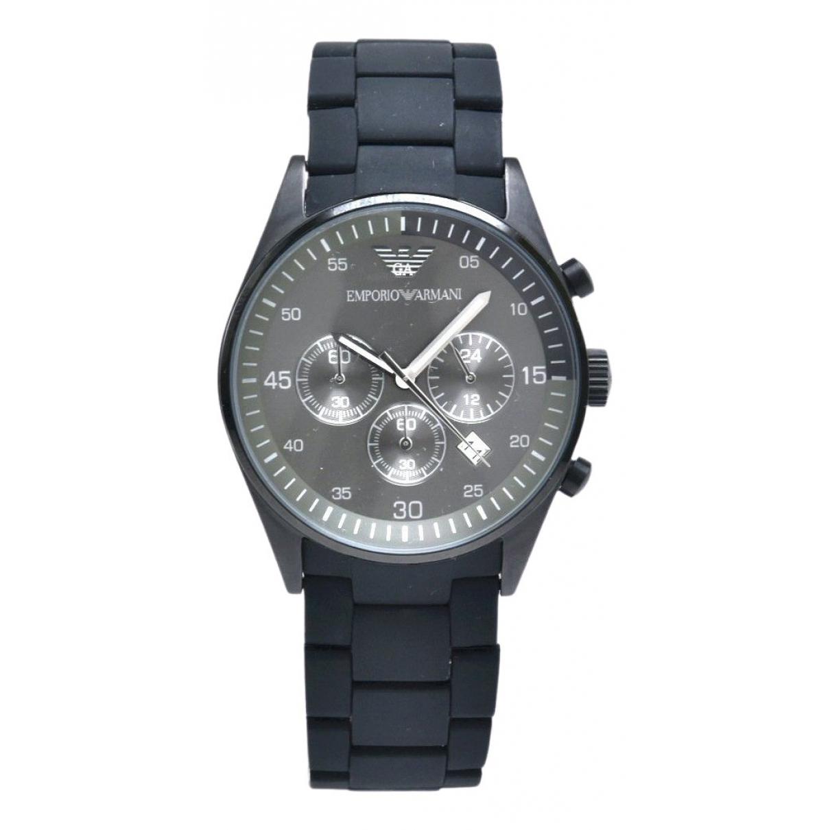 Emporio Armani \N Uhr in  Grau Stahl
