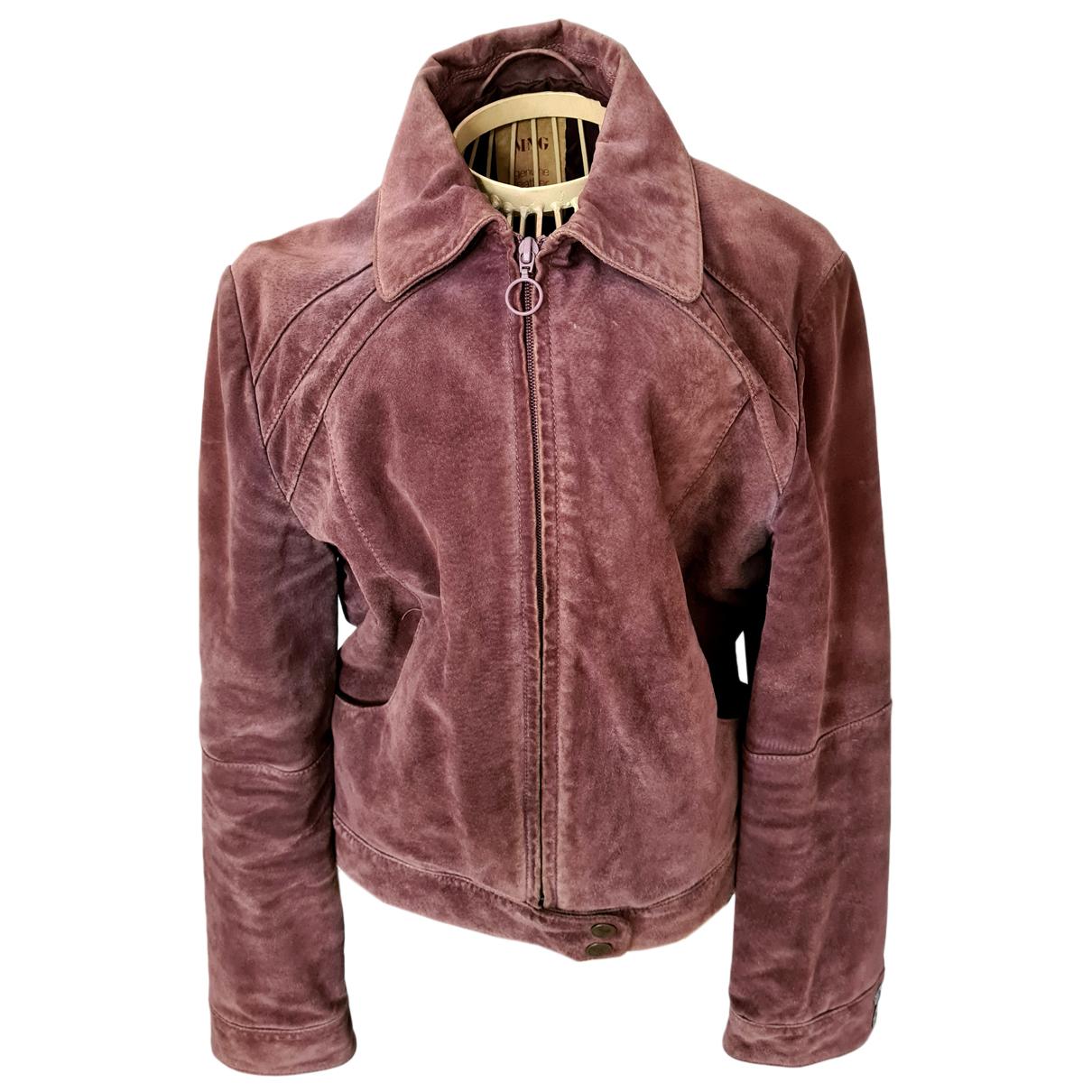 Mango N Purple Suede jacket for Women L International
