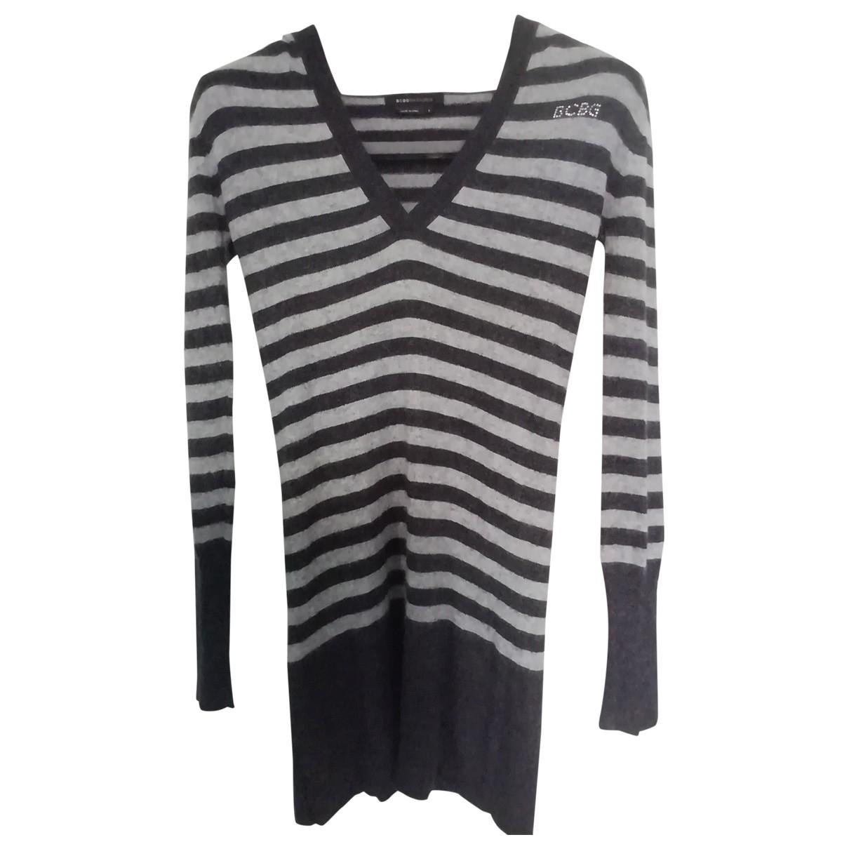 Bcbg Max Azria \N Kleid in  Grau Wolle
