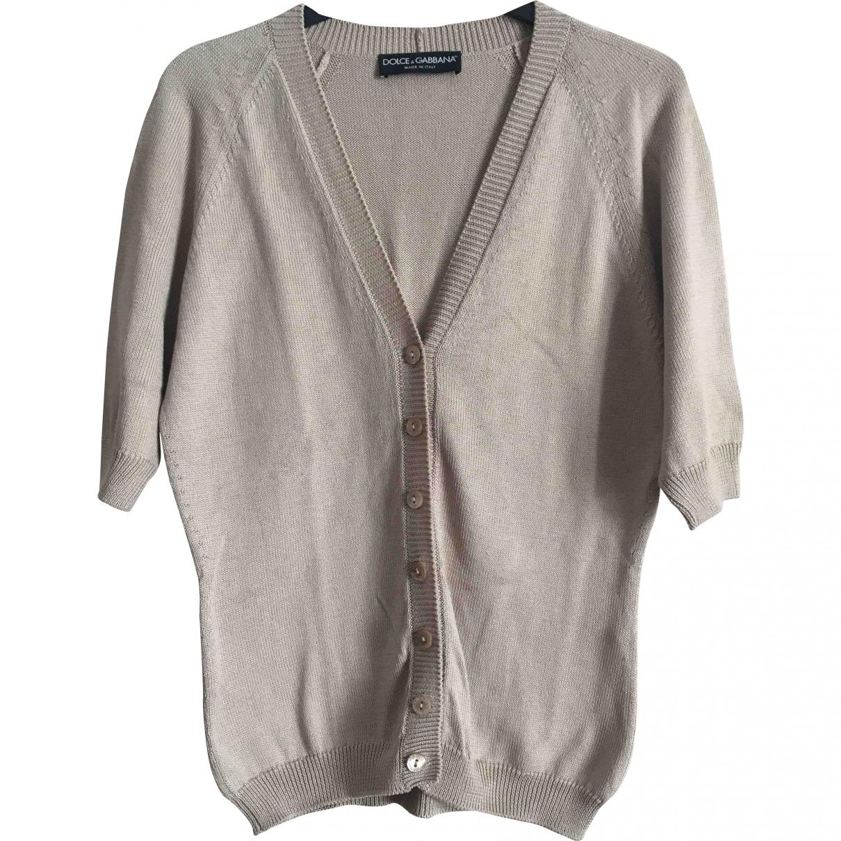 Dolce & Gabbana \N Pullover in  Beige Baumwolle