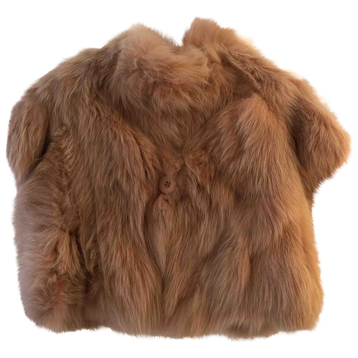 - Veste   pour femme en renard - rose