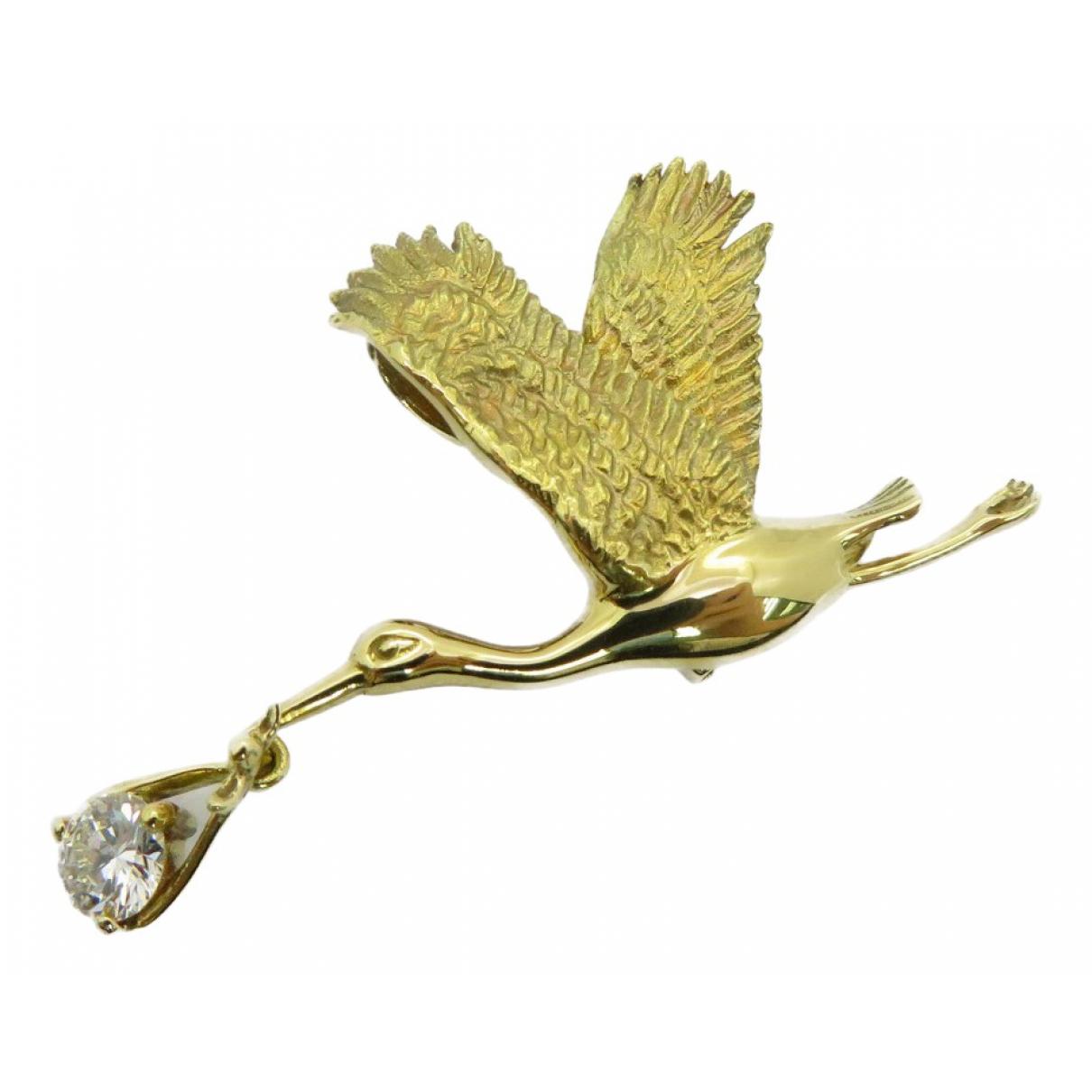 Broche Motifs Animaliers de Oro amarillo Non Signe / Unsigned