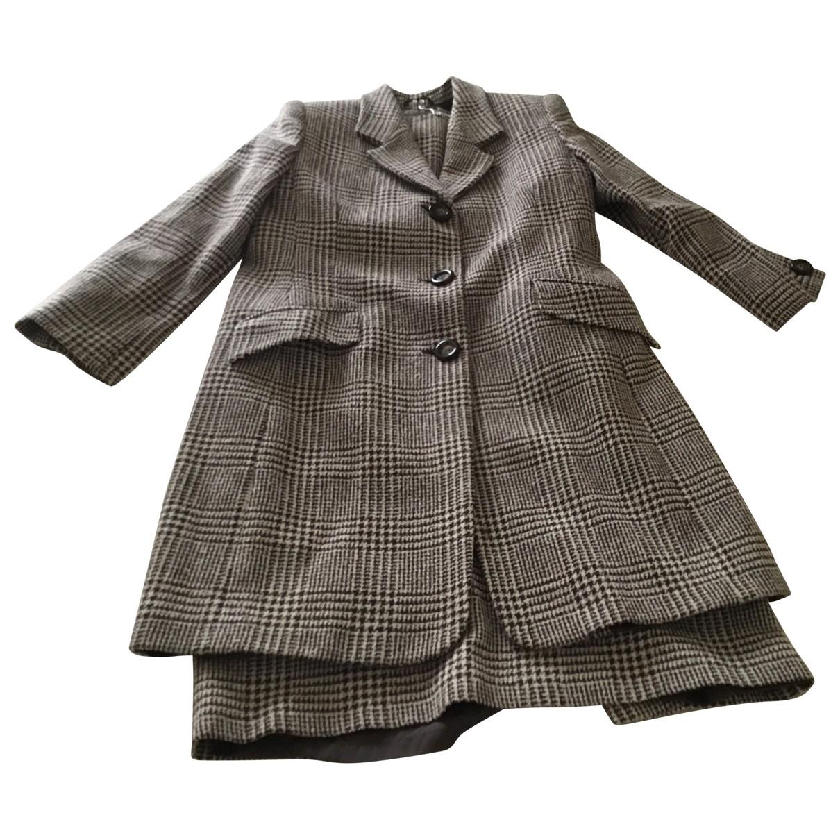 Max Mara - Manteau   pour femme en laine - marron