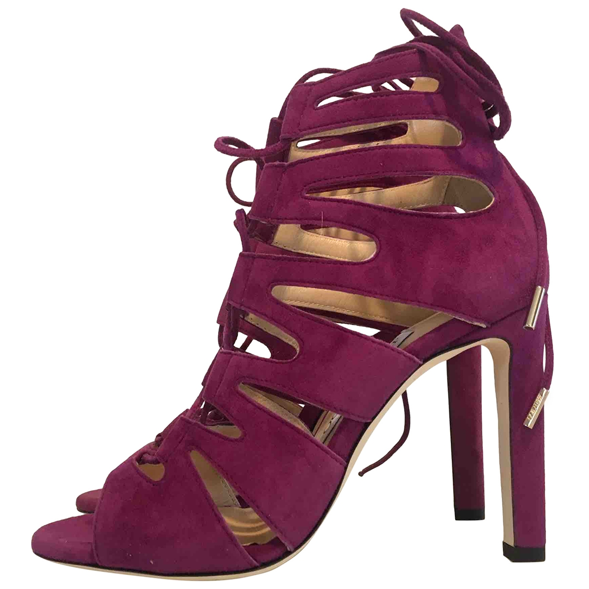 Jimmy Choo - Sandales   pour femme en suede - violet