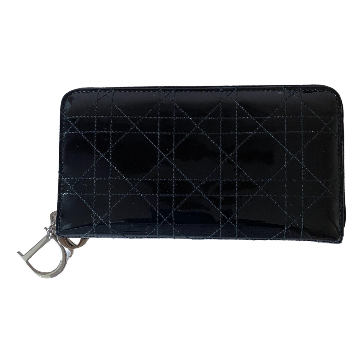 Dior Lady Dior Black Leather wallet for Women \N