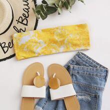 Bandeau Bikini Top mit Batik
