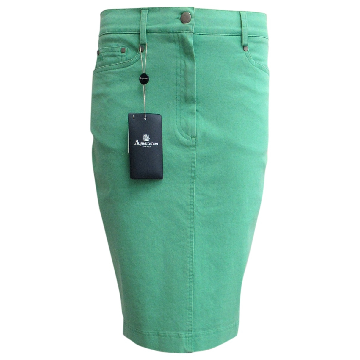 Aquascutum - Jupe   pour femme en coton - elasthane - vert