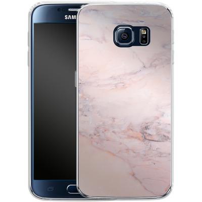 Samsung Galaxy S6 Silikon Handyhuelle - Blush Marble von Emanuela Carratoni