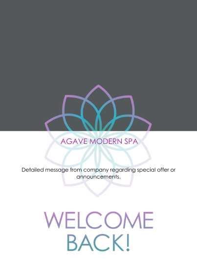 Construction & Repair Flat Business Greeting Cards, Business Printing -Modern Spa