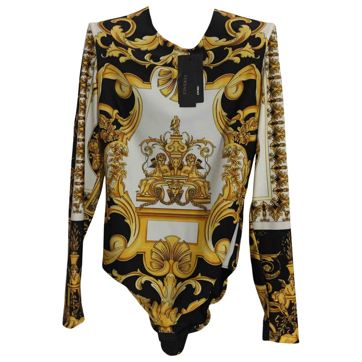 Versace \N Top in  Weiss Seide