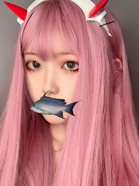 Milanoo Sweet Lolita Wigs Long Soft Pink Lolita Hair Wigs