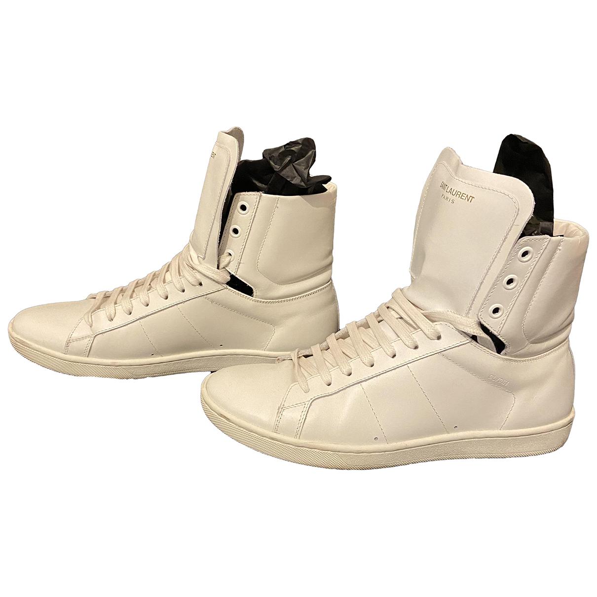 Saint Laurent \N Sneakers in  Weiss Leder