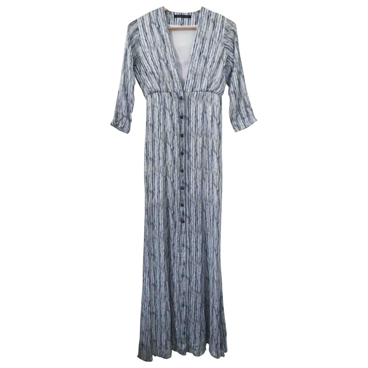 Maxi vestido de Seda Theyskens Theory