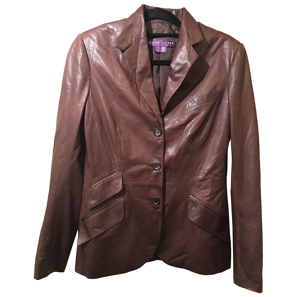 Ralph Lauren N Brown Leather jacket for Women 10 UK