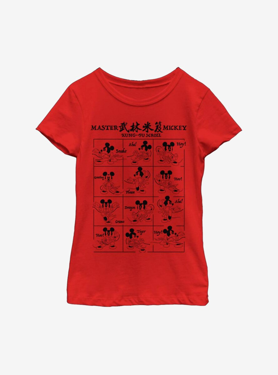 Disney Mickey Mouse Kung-Fu Mickey Youth Girls T-Shirt