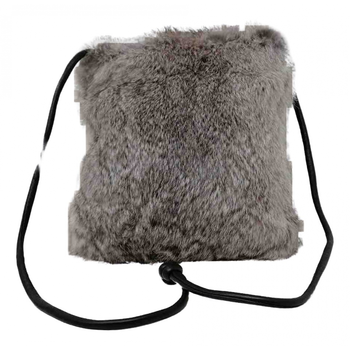 Non Signé / Unsigned N Grey Fur Clutch bag for Women N