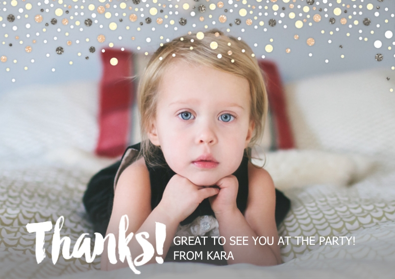 Kids Thank You Cards Flat Glossy Photo Paper Cards with Envelopes, 5x7, Card & Stationery -Sunrise Birthday - Thank You