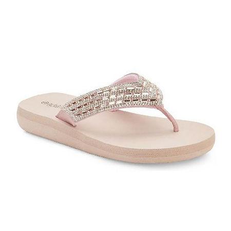 Olivia Miller Womens Flip-Flops, 10 , Pink