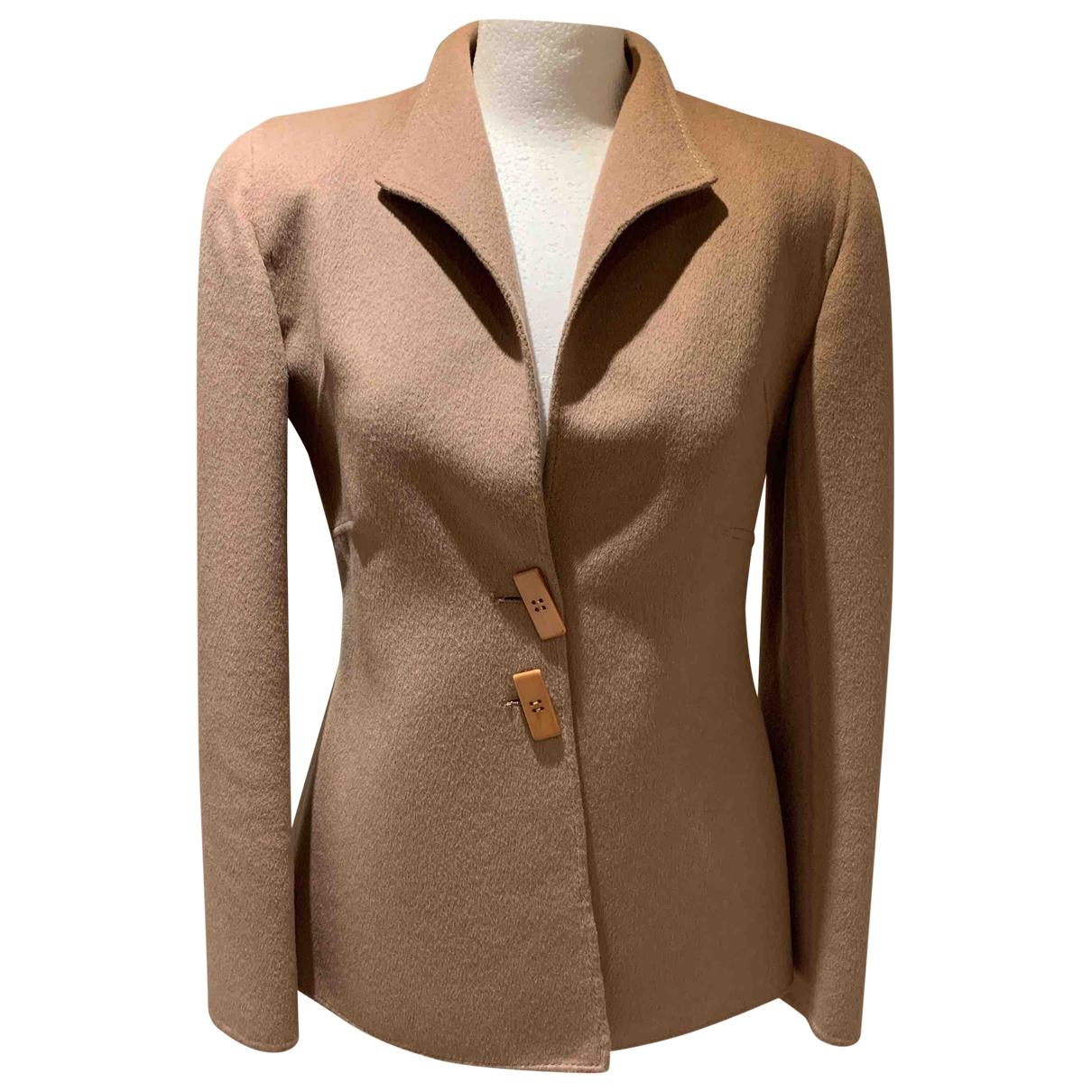 Valentino Garavani \N Beige Wool jacket for Women 10 US