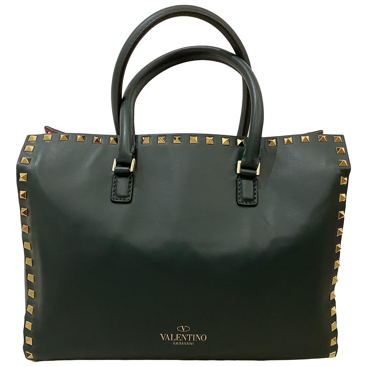 Valentino Garavani - Sac a main Rockstud pour femme en cuir - vert