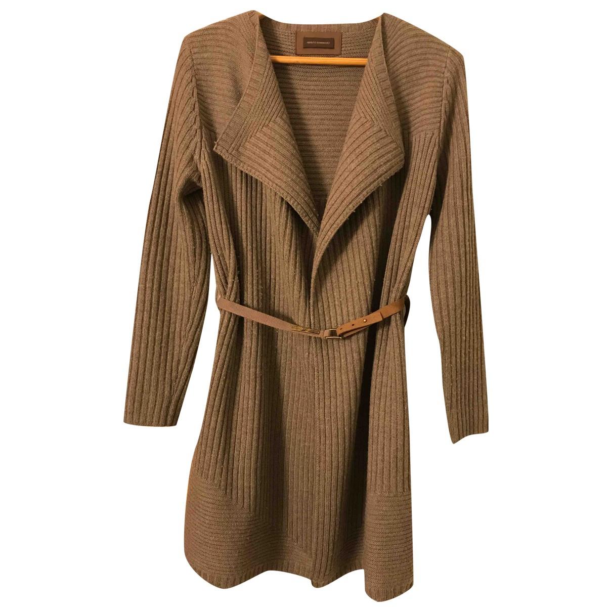 Adolfo Dominguez - Veste   pour femme en laine - marron