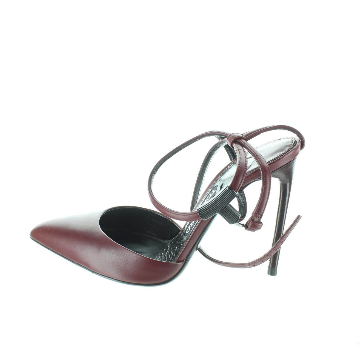 Tom Ford \N Burgundy Cloth Heels for Women 37 EU
