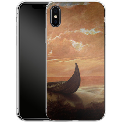 Apple iPhone X Silikon Handyhuelle - Bill Plank - Sunset Voyager von TATE and CO
