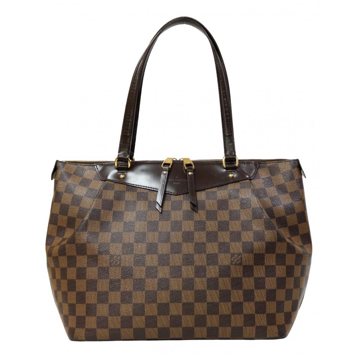 Louis Vuitton - Sac a main Westminster pour femme en toile - marron
